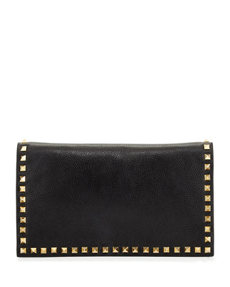 Carlyle Studded Clutch Bag, Black