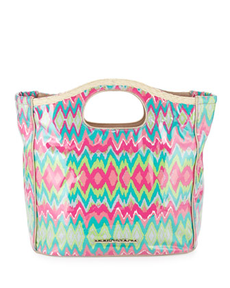 Madison Batik Diamond Print Tote Bag
