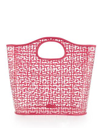 Madison Logo Maze Print Tote Bag, Pink