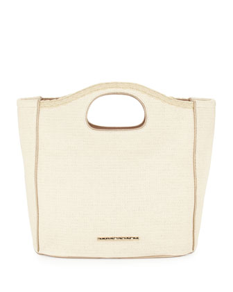 Madison Woven Beachgrass Tote Bag, Sand Dollar