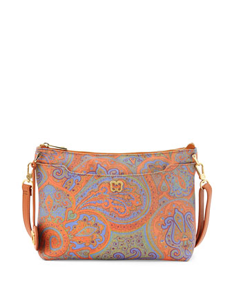 Joy Tapestry Leather Shoulder Bag, Ankara