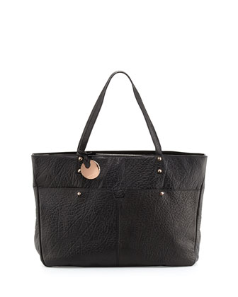 Anouk Leather Tote Bag, Black