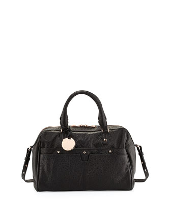 Pierre Duffle Satchel Bag, Black