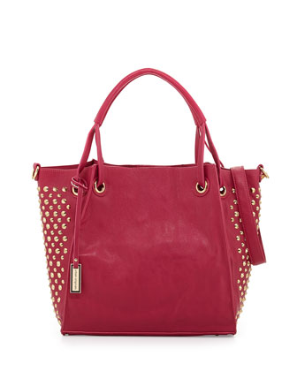 Tough Wonder Spike-Studded Tote Bag, Mulberry