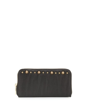 Muse Studded Continental Wallet, Black