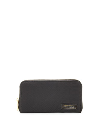 Passion Snake-Embossed Continental Wallet, Black