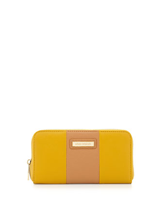 Cruise Colorblock Continental Wallet, Yellow/Tan