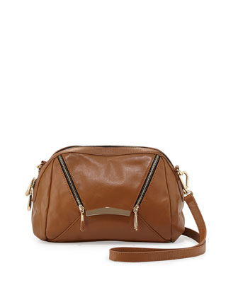 Sven Zipped Envelope Crossbody Bag, Cognac