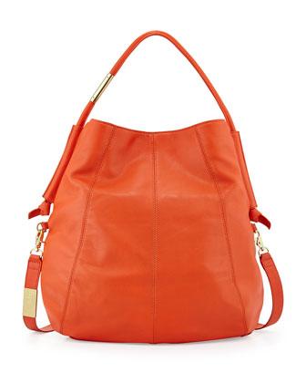 Southside Leather Hobo Bag, Hyacinth