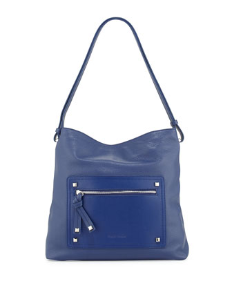 Kamen Slouch Leather Shoulder Bag, Indigo