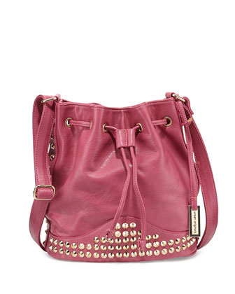Willow Studded Bucket Bag, Mulberry