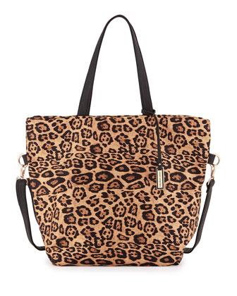Marley Leopard Print Tote Bag, Tan Leopard