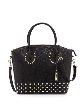 Avalon Studded Structured Tote Bag, Black