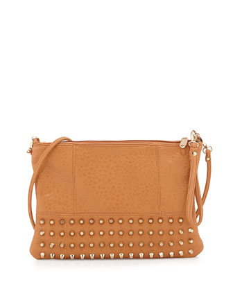Eve Studded Crossbody Bag, Tan