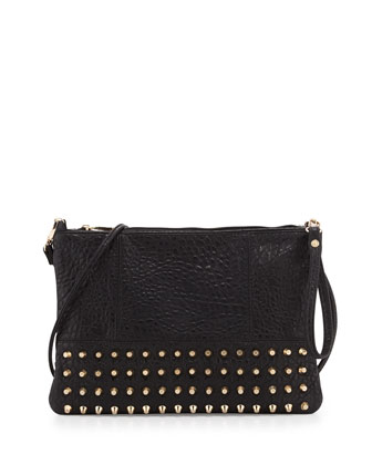 Eve Studded Crossbody Bag, Black