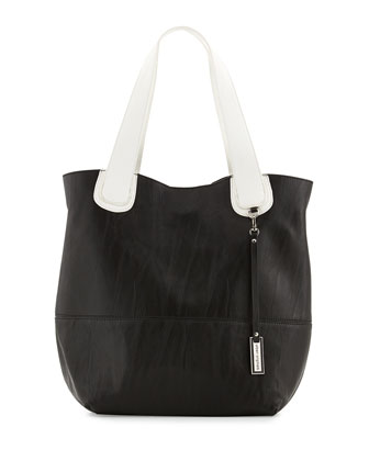 Coogee Two-Tone Shoulder Bag, Black/White