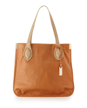 Lord Howe Two-Tone Shoulder Bag, Tan/Beige