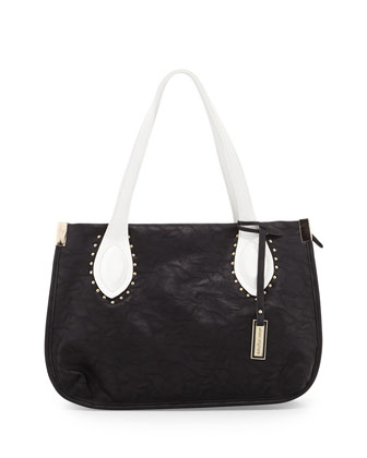 Catherine Shoulder Bag, Black/White