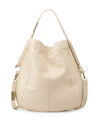 Southside Leather Hobo Bag, Ecru