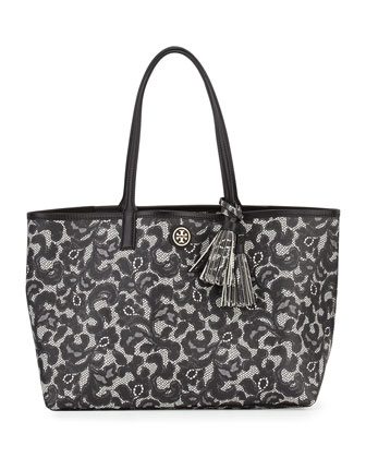 Kerrington Lace-Print Shopper Tote Bag