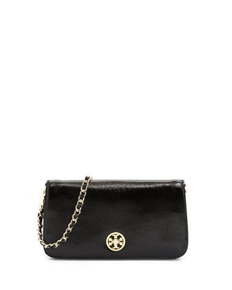 Adalyn Pebbled Crossbody Clutch Bag, Black