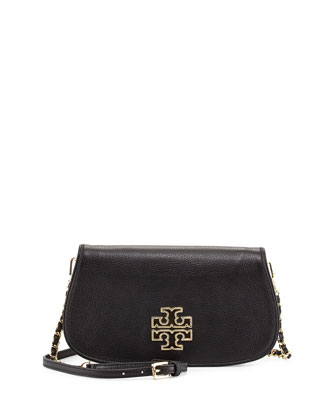 Britten Logo Flap Clutch Bag