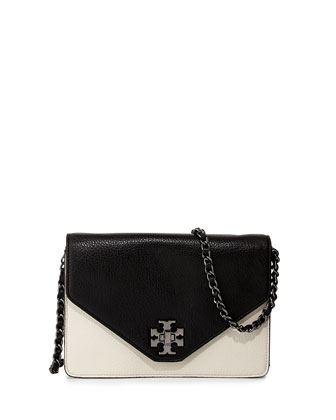 Kira Colorblock Crossbody Bag, Black/Birch/Champagne