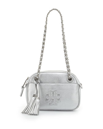 Thea Chain-Strap Crossbody Bag, Silver