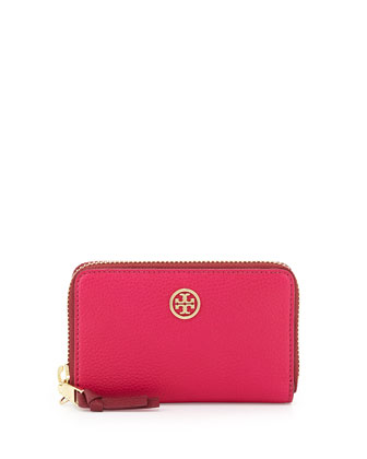 Robinson Pebbled Smart Phone Wallet, Carnation Red/Cab