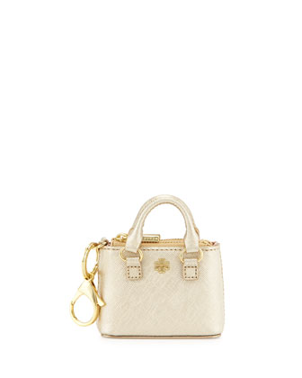 Robinson Double-Zip Key Tote, Gold