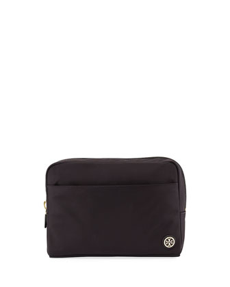 Nylon Travel Beauty Bag, Black