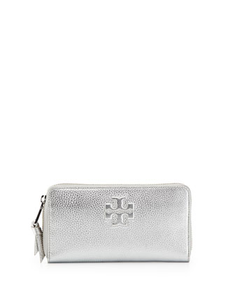 Thea Continental Zip Wallet, Silver