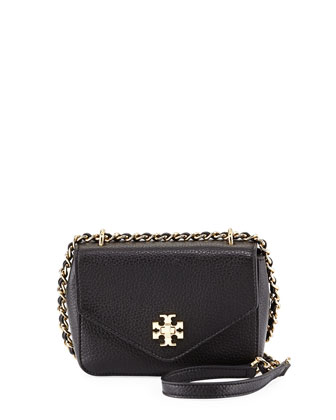 Kira Mini Chain-Strap Crossbody Bag, Black