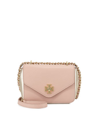 Kira Mini Chain-Strap Crossbody Bag, Rose/Champagne
