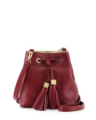 Thea Mini Crossbody Bucket Bag, Cabernet
