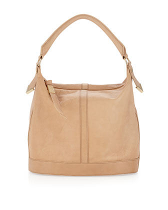 Frame Small Bucket Bag, Nude