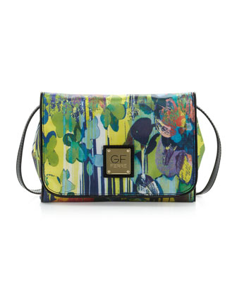 Printed Flap Crossbody Clutch Bag, Multi