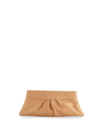 Eve Snap Textured Clutch, Tan