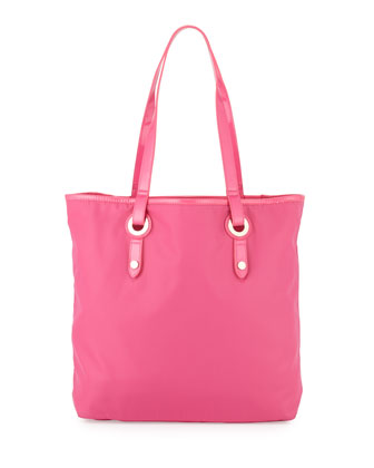 Abbi Nylon Medium Tote Bag, Pink