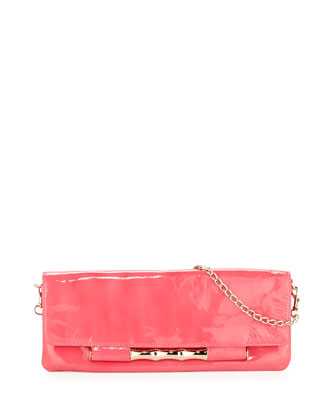 Simone Patent Shoulder Bag, Pink