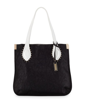 Lord Howe Two-Tone Shoulder Bag, Black/White