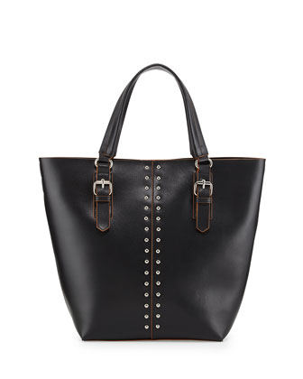 Day Studded Leather Tote Bag, Black