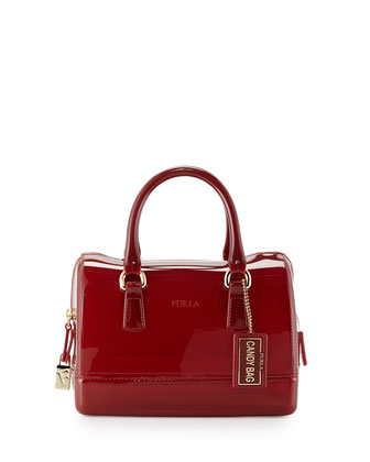 Candy Cookie Mini Satchel Bag, Cabernet