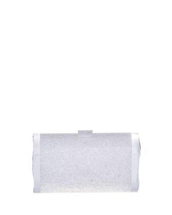 Lara Acrylic Ice Clutch Bag, Blizzard (White)