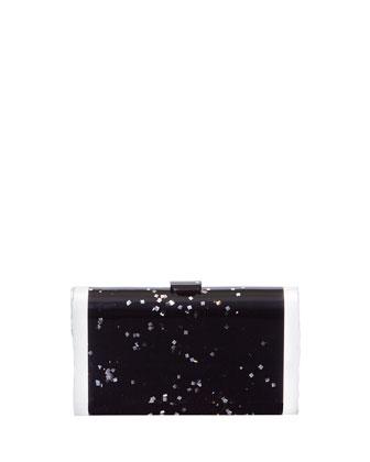 Lara Acrylic Ice Clutch Bag, Black