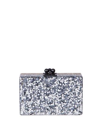 Minnie Half & Half Acrylic Clutch Bag, Silver/Gold