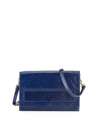 Jillian Flap Crossbody Bag, Ink