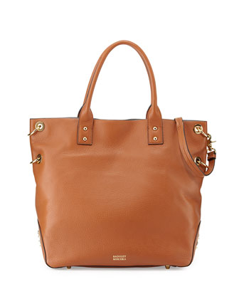 Victoria Pebbled Leather Tote Bag, Cognac