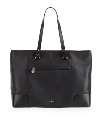 Marcelle East-West Tote Bag, Black