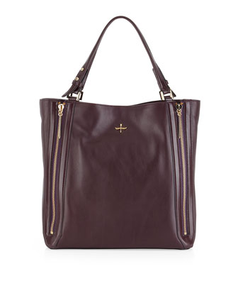 Nouveau Leather Tote Bag, Plum